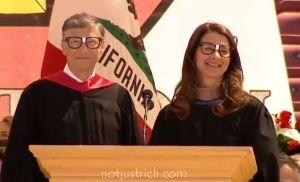 Bill Gates Melinda photo latest Stanford