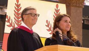 bil gates melinda latest picture Stanford speech