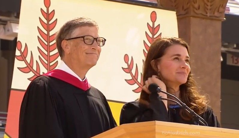 bil gates melinda latest picture Stanford speech