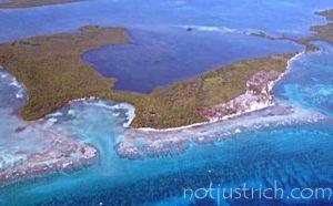 bill gates island Grand Bogue Caye