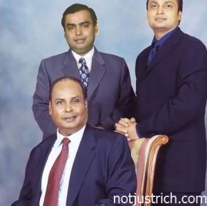 dhirubhai ambani with mukesh and anil