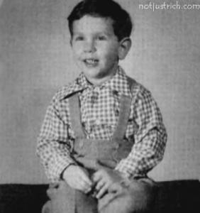 larry ellison childhood photo