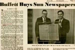 warren buffett newspapers