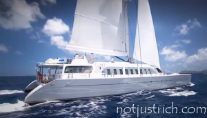 Necker Belle richard branson catamaran yacht