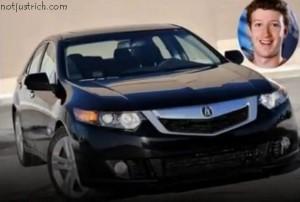 mark zuckerberg car Acura TSX