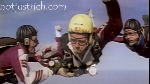 richard branson sky diving picture