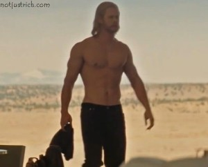 chris hemsworth shirtless body thor