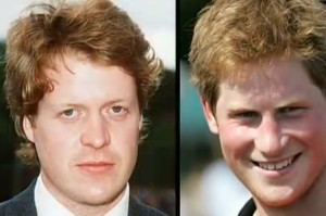prince harry james hewitt face similarity
