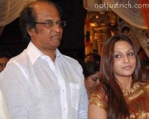 Rajnikanth with daughter Aishwarya