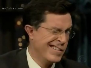 stephen colbert ear funny face