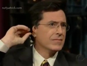 stephen colbert ear trick pop out