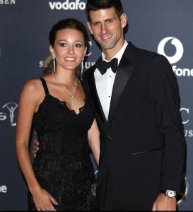 Novak Djokovic wife Jelena Ristic
