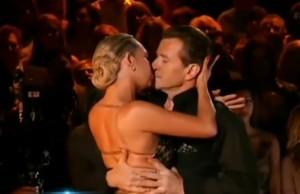 robert herjavec kym johnson kissing