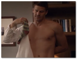 David Boreanaz shirtless photos