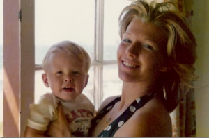 Maye Musk with little Elon