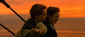 titanic romance scene