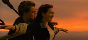 titanic romantic scene light