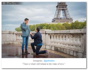 Gio Benitez boyfriend proposing Eiffel Tower