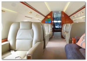 mark cuban jet inside