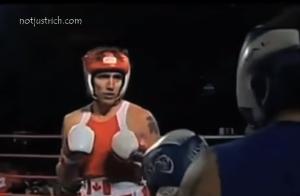 Justin Trudeau boxing hotos