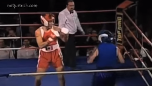 Justin Trudeau boxing pictures