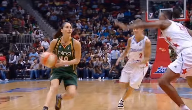 sue bird basketball playing