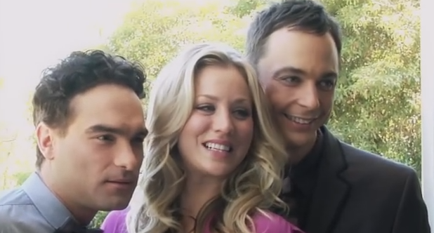 Johnny Galecki, Jim Parsons and Kaley Cuoco)