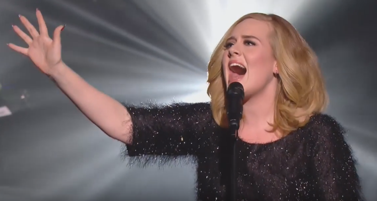 adele singing picture