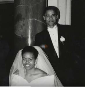barack obama wedding photo michelle