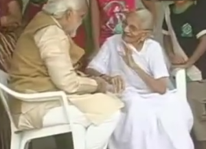 narendra modi mother photo