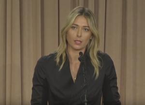 maria sharapova drug test speech