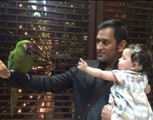 ms dhoni daughter ziva photo