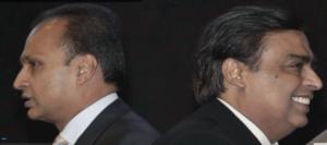 anil ambani mukesh ambani difference split