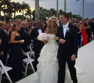 Lara Yunaska eric trump wedding photo
