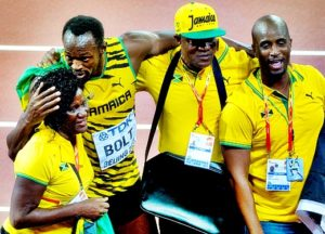 Usain Bolt parents images