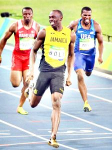 Usain Bolt smile